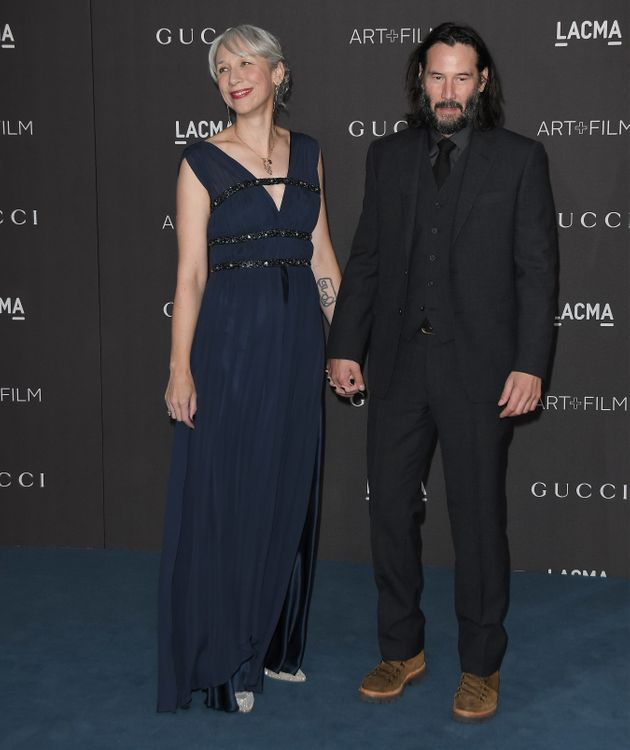 Alexandra Grant and Keanu Reeves at the 2019 LACMA Art + Film Gala held at LACMA in Los