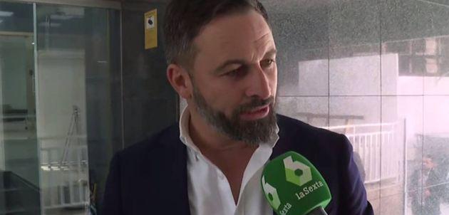 El líder de Vox, Santiago Abascal, preguntada por una periodista de