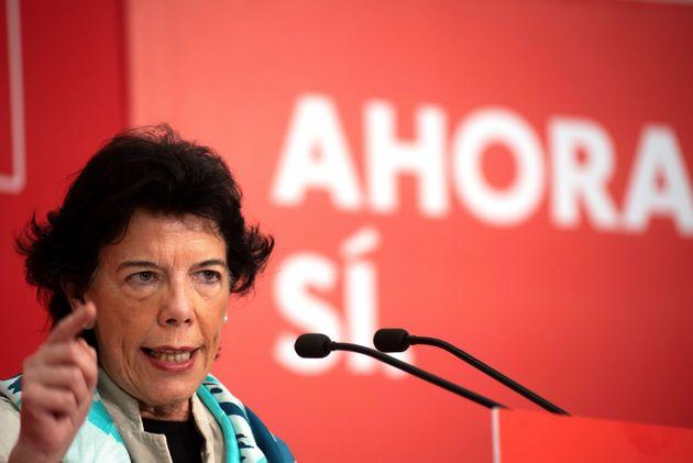 La ministra de de Educación y candidata al Congreso de los Diputados, Isabel