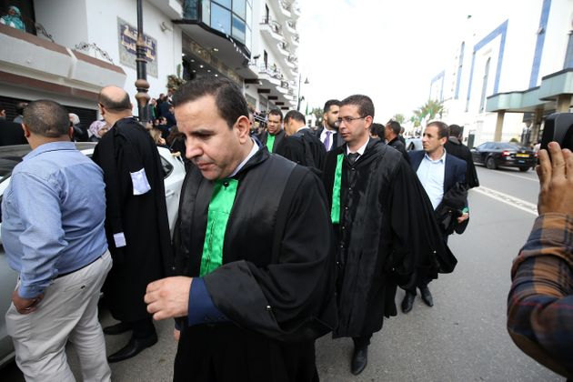 Algerian judges and prosecutors at a demonstration in the Supreme Court in Algiers, the capital, on October...