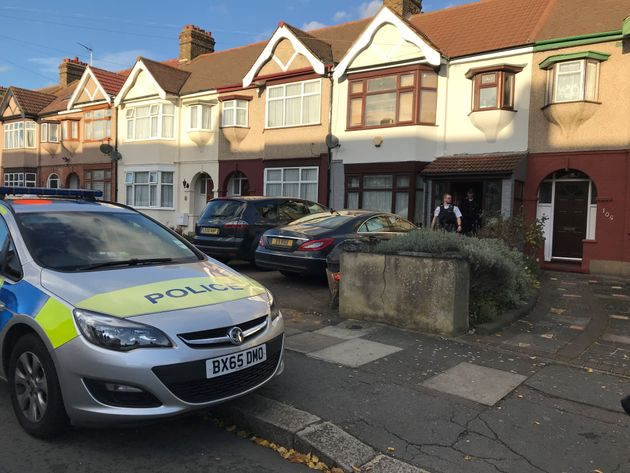 Police at a property in Applegarth Drive, Ilford, east London, where heavily pregnant Devi Unmathallegadoo,...