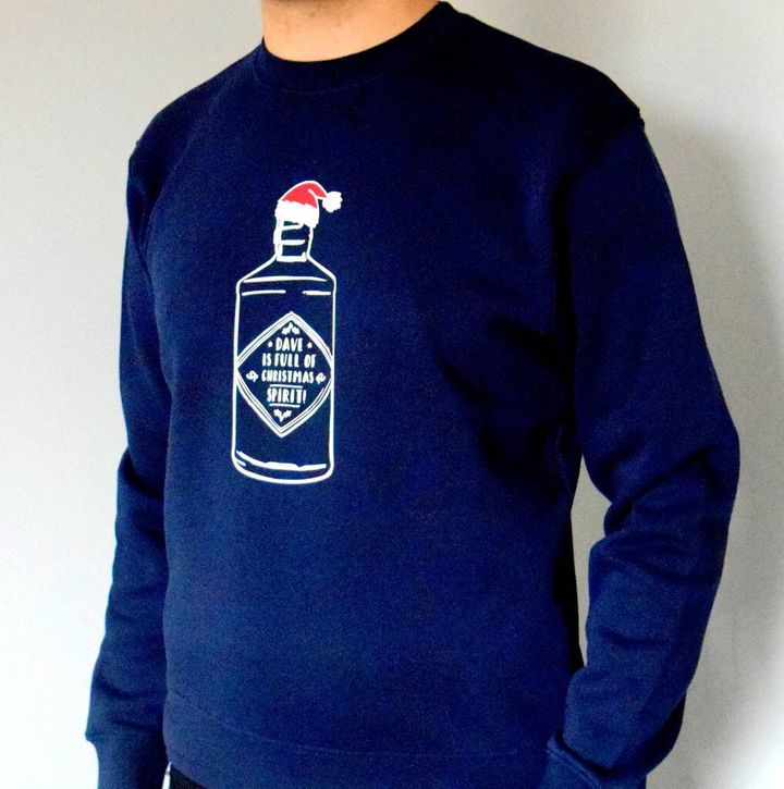 Christmas Green Wash North Pole Sweatshirt, Topman