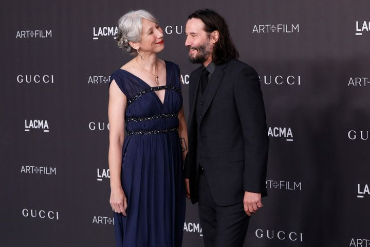 Alexandra Grant and Keanu Reeves appeared on Nov. 2 at the 2019 LACMA Art + Film Gala holding hands.