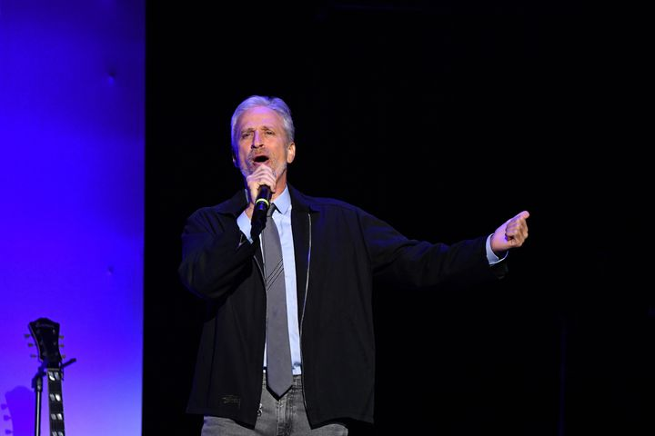 Jon Stewart was joined byJohn Oliver, Hasan Minhaj and Ronny Chieng at the annual event to raise money for veterans.&nb