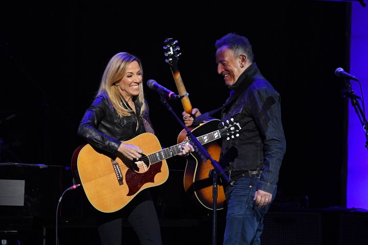 Sheryl Crow and Bruce Springsteen performed together on Monday night.