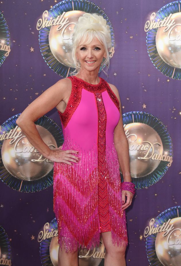 Debbie McGee at the Strictly red carpet launch in
