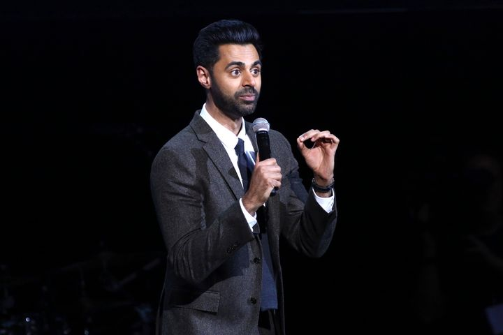 More than 60 veterans attended Stand Up for Heroes, which also featured Hasan Minhaj (seen here).