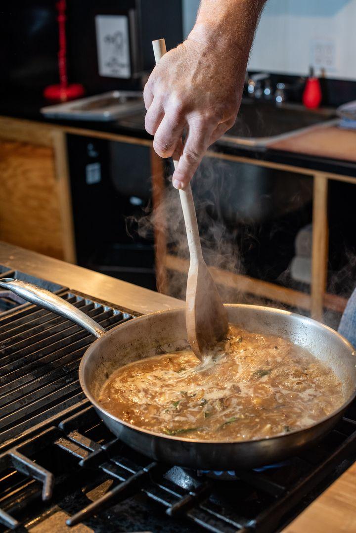 Tom Douglas' browned onion gravy.