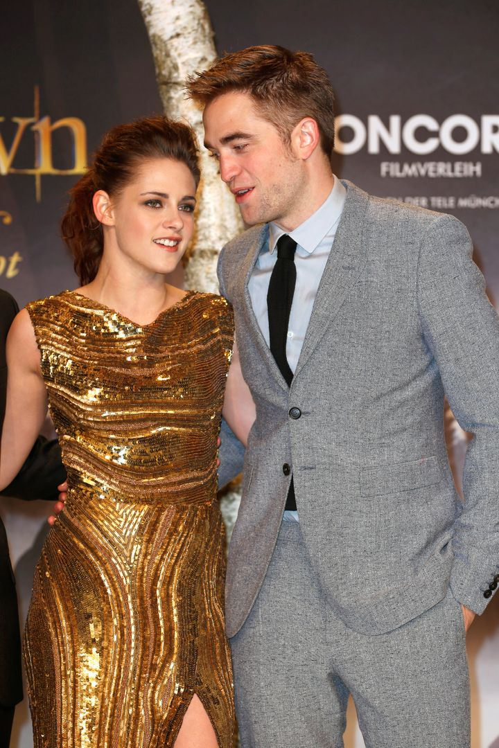 Kristen Stewart and Robert Pattinson attend the 'Twilight Saga: Breaking Dawn Part 2' premiere in 2012.