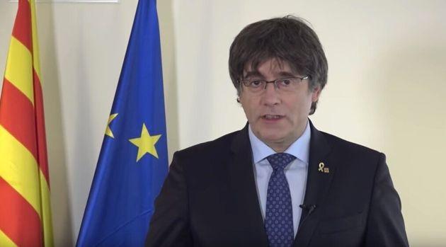 Carles Puigdemont, en un vídeo