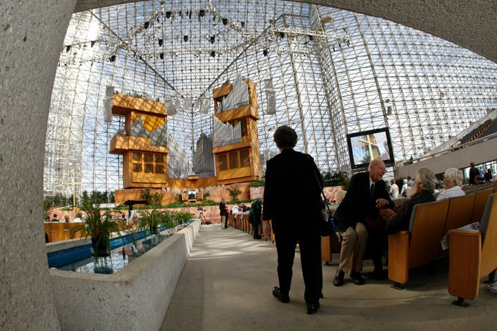 The Crystal Cathedral in Garden Grove, California, on Sunda, Sept. 24, 2010. The former Protestant church now belongs to a <a