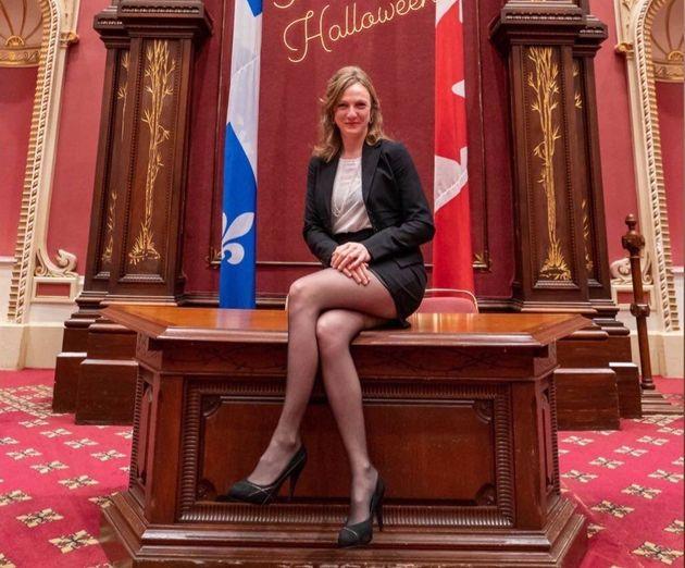 Catherine Dorion déguisée... en députée (Facebook/Catherine