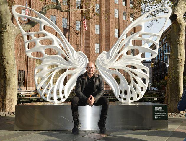 """O artista plástico Rubem Robierb é o criador da escultura """"Dandara"""", que ficará..."""