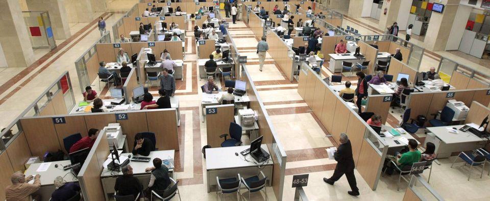 Imagen de una oficina de la Agencia Tributaria en Madrid.