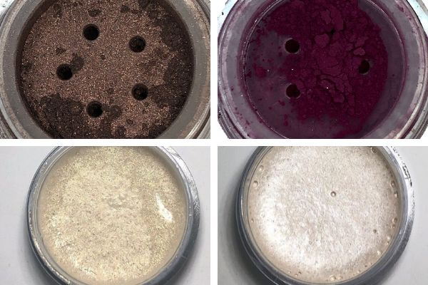 """From top left, clockwise: <a href=""""https://www.indigecos.com/product-page/deep-brown-eye-shadow"""" target=""""_blank"""" role=""""link"""" rel=""""nofollow"""" data-ylk=""""subsec:paragraph;itc:0;cpos:__RAPID_INDEX__;pos:__RAPID_SUBINDEX__;elm:context_link"""">Walnut eye shadow</a>, <a href=""""https://www.indigecos.com/product-page/orchid-eye-shadow"""" target=""""_blank"""" role=""""link"""" rel=""""nofollow"""" data-ylk=""""subsec:paragraph;itc:0;cpos:__RAPID_INDEX__;pos:__RAPID_SUBINDEX__;elm:context_link"""">Orchid eye shadow</a>, <a href=""""https://www.instagram.com/p/B1XimHKlITm/?utm_source=ig_web_copy_link"""" target=""""_blank"""" role=""""link"""" rel=""""nofollow"""" data-ylk=""""subsec:paragraph;itc:0;cpos:__RAPID_INDEX__;pos:__RAPID_SUBINDEX__;elm:context_link"""">highlighters</a>"""