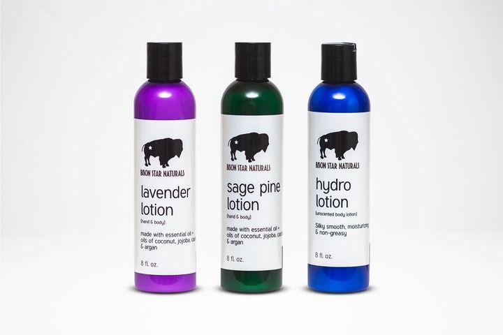 """<a href=""""https://bisonstarnaturals.com/product/lavender-lotion/"""" target=""""_blank"""" rel=""""noopener noreferrer"""">Lavender Lotion</a>, <a href=""""https://bisonstarnaturals.com/product/sage-pine-lotion/"""" target=""""_blank"""" rel=""""noopener noreferrer"""">Sage Pine Lotion</a>, <a href=""""https://bisonstarnaturals.com/product/hydro-lotion/"""" target=""""_blank"""" rel=""""noopener noreferrer"""">Hydro Lotion</a>"""
