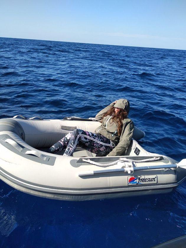그리스 해안경비대가 공개한 쿠실라 스타인 씨의 구조 당시