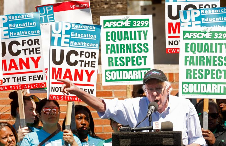 On March 20, Sen. Bernie Sanders (I-Vt.) joined workers in a labor dispute against the University of California school system