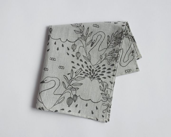 This handkerchief was hand screen printed in rural Ontario.