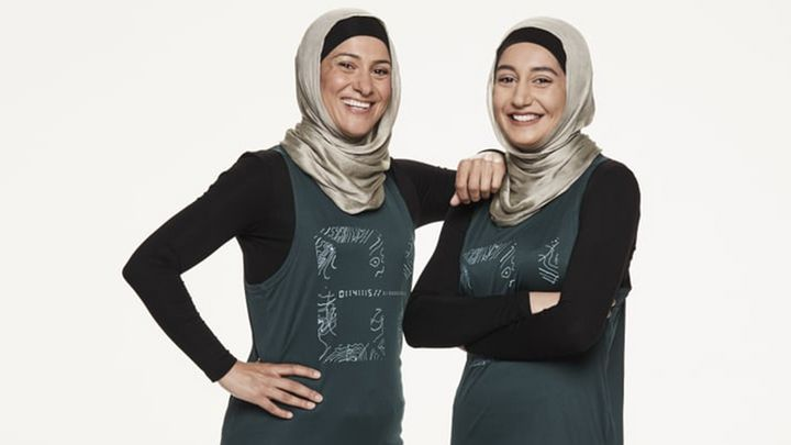 The Amazing Race Australia contestants Rowah Hassan (L) and Amani Mawass (R) who were eliminated on Tuesday.