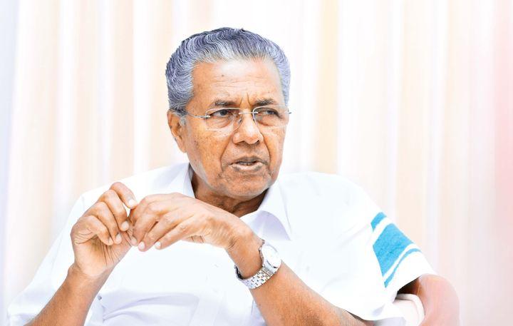 NEW DELHI, INDIA JUNE 19, 2016: Chief Minister of Kerala Pinarayi Vijayan photographed in Delhis Kerala house. (Photo by Ramesh Pathania/Mint via Getty Images)