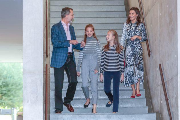 Los reyes y sus hijas en el X aniversario de la Fundación Princesa de Girona el 5 de noviembre...