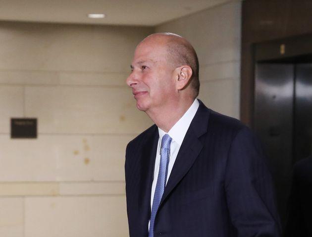 WASHINGTON, DC - OCTOBER 28: U.S. Ambassador to the European Union Gordon Sondland arrives for a closed...