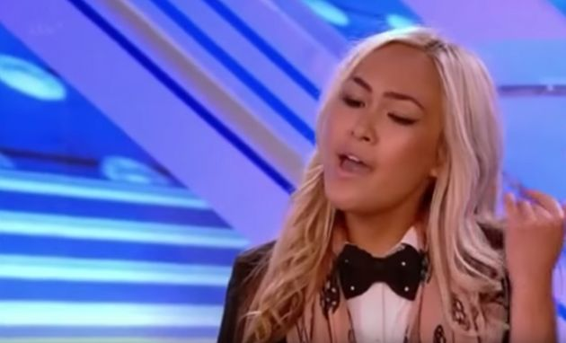 Love Island Australia contestant Cassie Lansdell in a 2013 audition for The X Factor