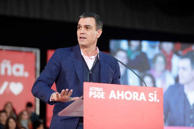 El candidato socialista a la presidencia del Gobierno, Pedro