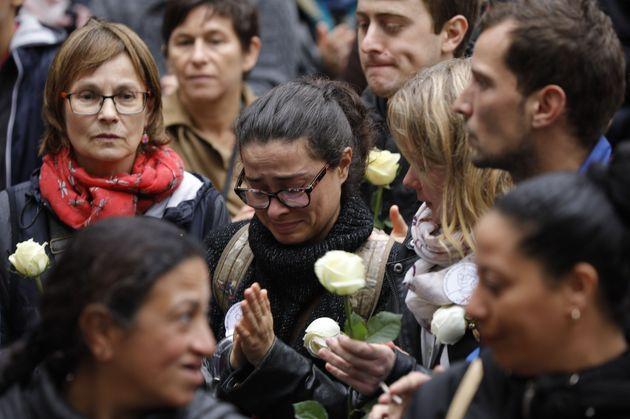 Des directeurs, directrices d'école, des enseignants et des proches de Christine Renon se sont...