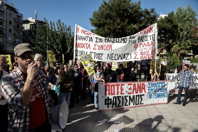 Μεγάλη συγκέντρωση στο Εφετείο κατά του φασισμού και της Χρυσής Αυγής - Σήμερα η απολογία