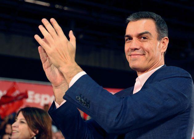 El candidato del PSOE a la presidencia del Gobierno, Pedro