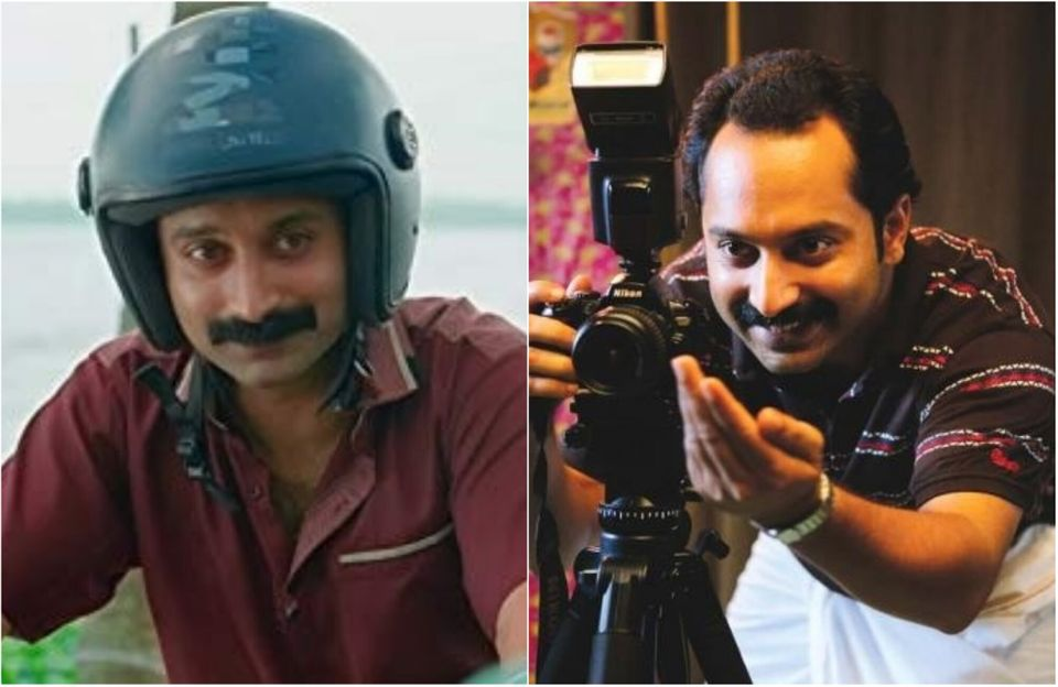 L-R: Fahadh Faasil in 'Kumbalangi Nights' and in 'Maheshinte