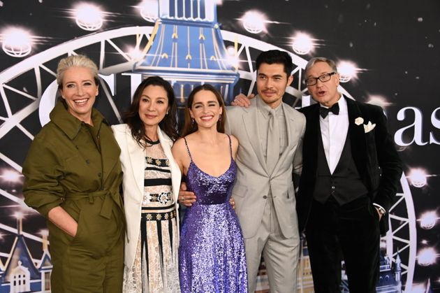 Emma Thompson, Michelle Yeoh, Emilia Clarke, Henry Golding and Paul Feig at the Last Christmas premiere...