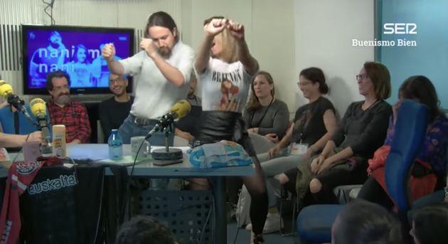 Pablo Iglesias bailando en 'Buenismo