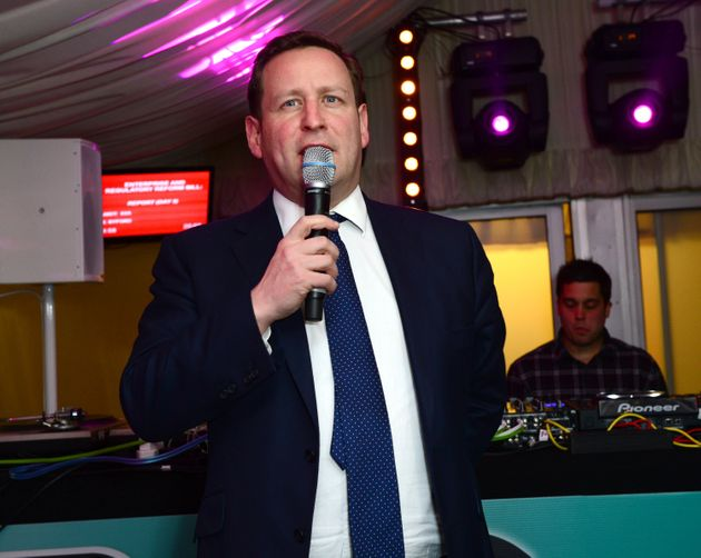 Ed Vaizey MP in the Terrace Bar as Fatboy Slim plays the House of Commons for Last Night A DJ Saved My...