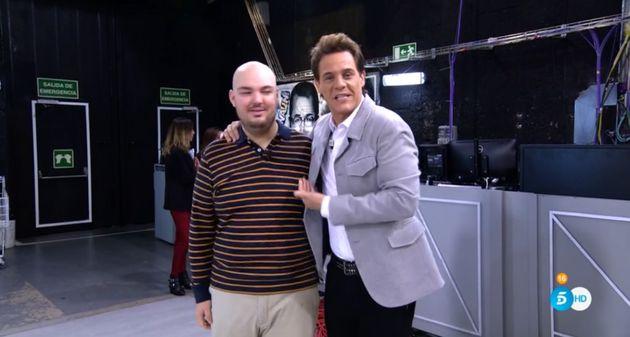 Fran, junto a Christian Gálvez el 5 de noviembre de 2019 en 'El