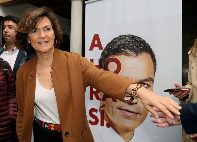 La vicepresidenta del Gobierno de España, Carmen
