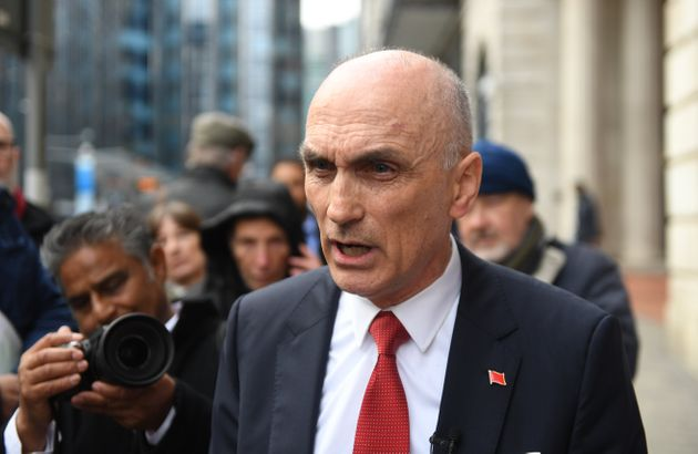 Chris Williamson outside the Birmingham Civil Justice Centre where he lost his High Court bid to be reinstated...