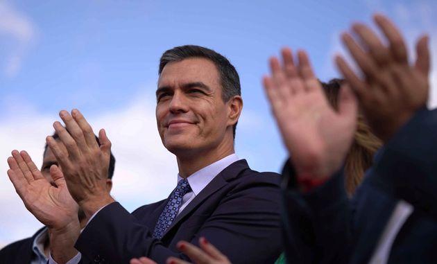 El presidente del Gobierno en funciones, Pedro Sánchez, este miércoles en