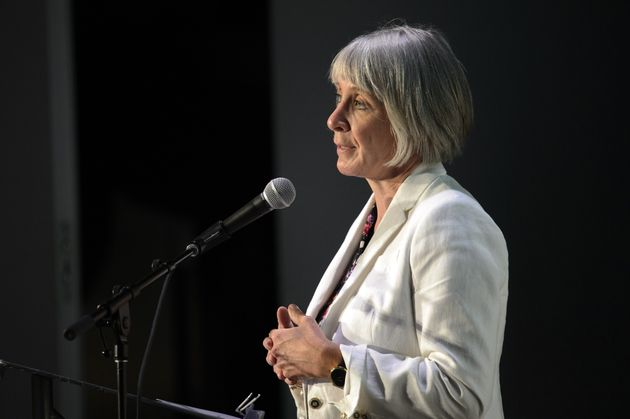 Labour Minister Patty Hajdu speaks during an event on workplace harassment and violence prevention fund...