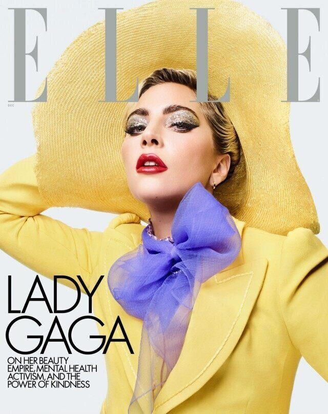 Lady Gaga was interviewed by Oprah Winfrey for Elle's cover story.