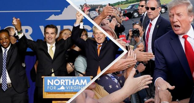L'esultanza dei democratici in Virginia - Donald Trump saluta i suoi