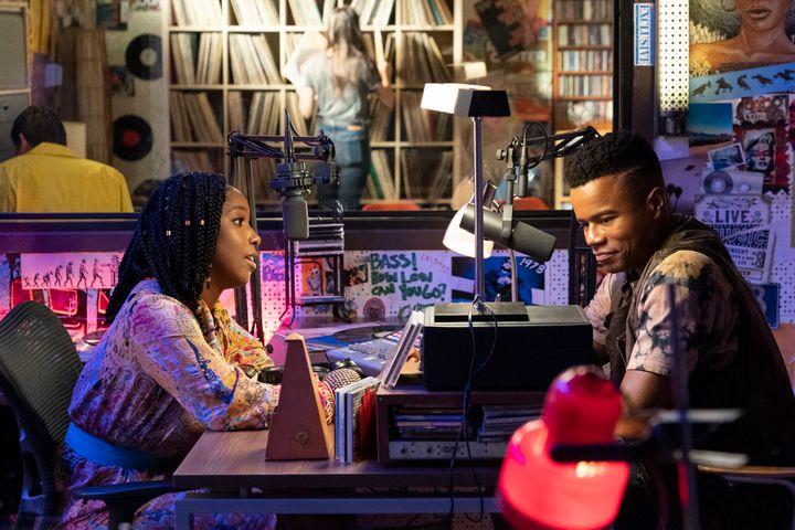 "Ashley Blaine Featherson and Marque Richardson in ""Dear White People."""