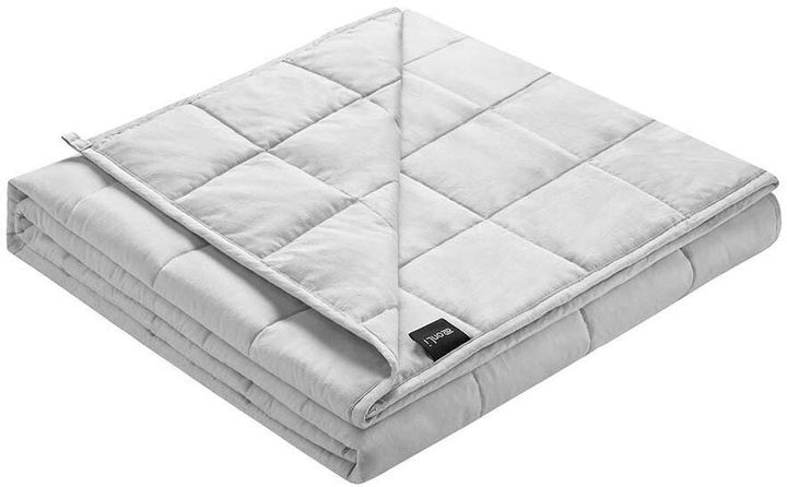 A weighted blanket may help you sleep more soundly.