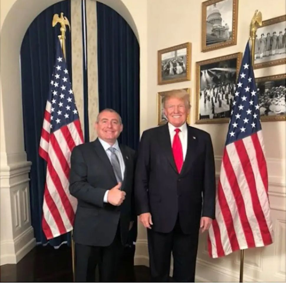 Lev Parnas shared a photo of himself with President Donald Trump on social media.