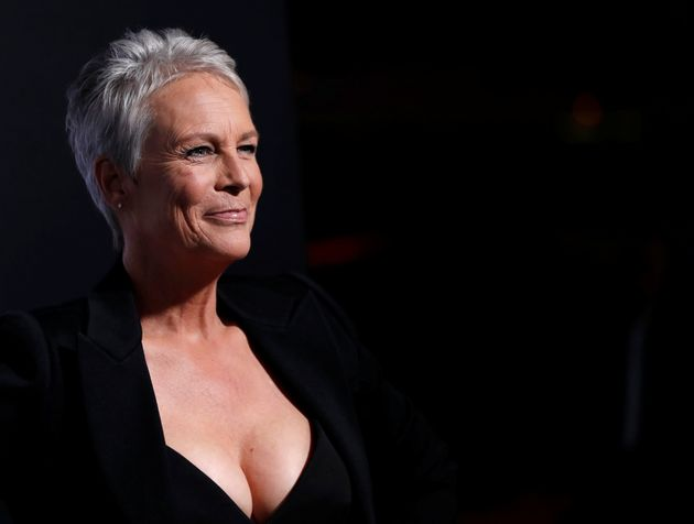 Cast member Jamie Lee Curtis poses at a premiere for the movie
