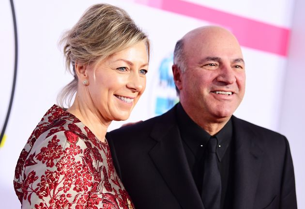 Linda O'Leary and Kevin O'Leary are seen here attending the American Music Awards in Los Angeles on Nov....
