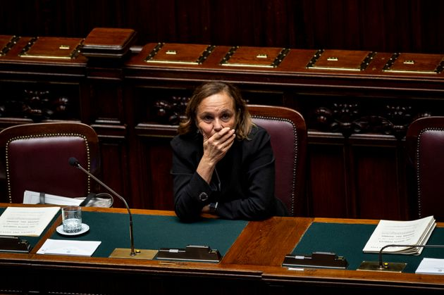 ROME, ITALY - OCTOBER 16: Italian Interior Minister Luciana Lamorgese during the Question Time at the...