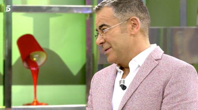 Jorge Javier Vázquez en el plató de